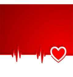 Heart beat cardiogram with heart shape vector