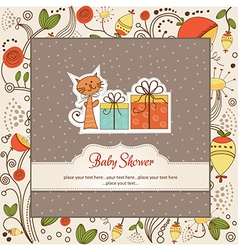 Birthday announcement card vector