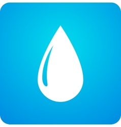 Blue droplet symbol vector