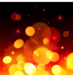 Bright bokeh effect fire abstract background vector