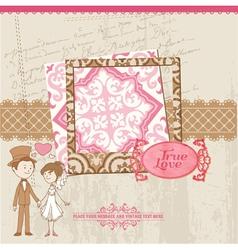 Wedding scrapbook card vector