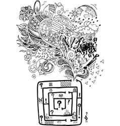 Sketchy doodle confused maze vector
