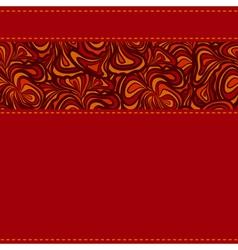 Dark red stripe seams vector