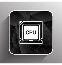 Icon of cpu microprocessor sign symbol process vector