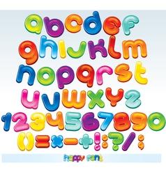 Joyful cartoon font vector