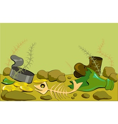 Dirty ocean floor vector