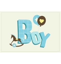 Boy card vector