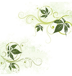 Light green floral background vector