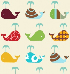 Whale icons vector