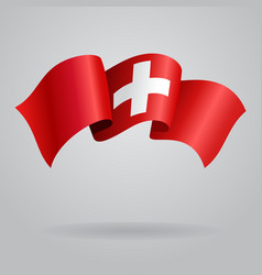 Swiss waving flag vector