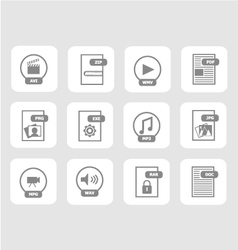 Digital files icon set 1 vector