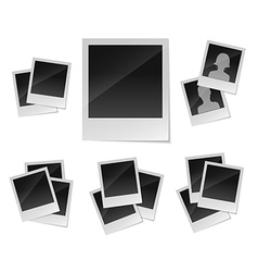 Empty photo frames set vector