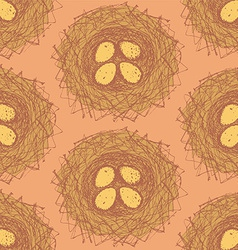 Sketch nest in vintage style vector