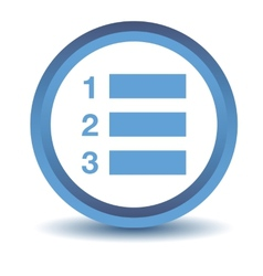 Blue numbered list icon vector