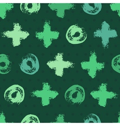 Abstract green seamless background vector
