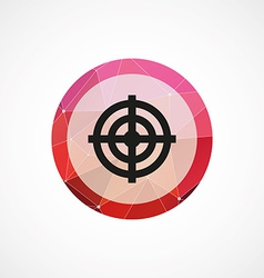 Target circle pink triangle background icon vector