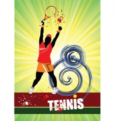 Woman's tennis vector