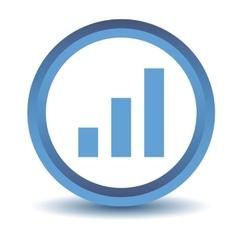 Blue graph icon vector