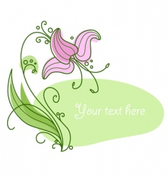 Flower and frame vector