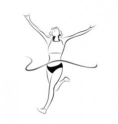 Athlete sketch vector