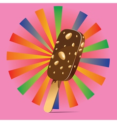 Chocolate ice cream background vector