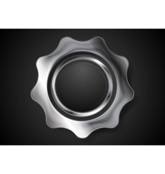 Metal gear steel cogwheel vector