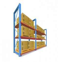 Storage racks vector