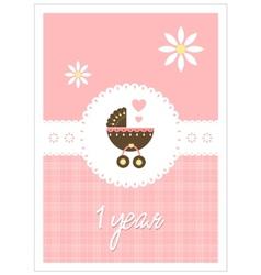 Baby card - girl vector