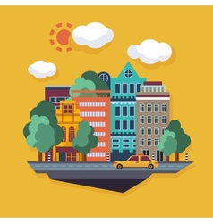 City urban landscape flat vector