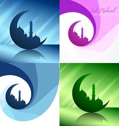 Creative set of ramadan festival background vector