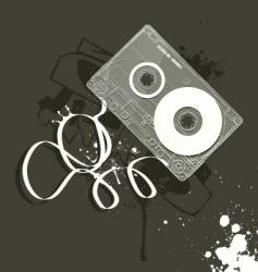 Cassette grunge style of music vector