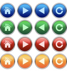 Browser buttons vector