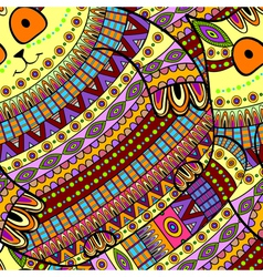 Seamless cat pattern ornamental background vector