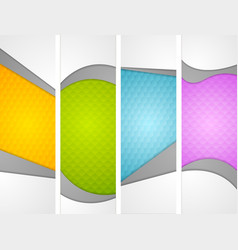 Abstract wavy corporate vertical banners vector