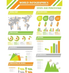 Infographic demographics 9 orange vector