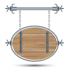 Old wooden board vector