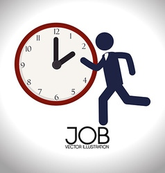 Job design over white background vector