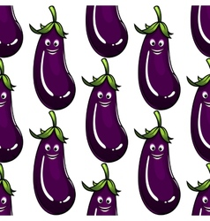Seamless background pattern of a ripe eggplant vector