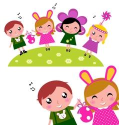 Happy party kids vector