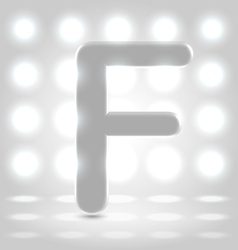 F over lighted background vector