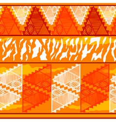 Seamless texture in tribal indian style vector