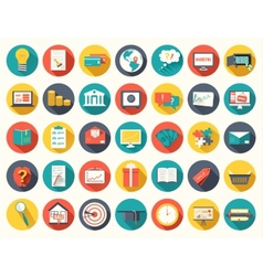 Big collection business education online vector