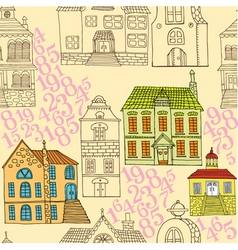 Town pattern vector