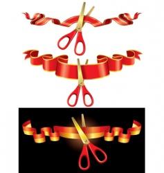 Ceremonial scissors vector