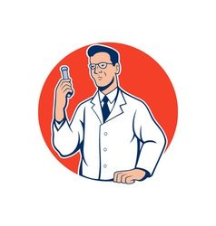 Scientist lab researcher chemist cartoon vector