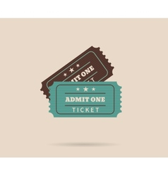 Two retro tickets vector