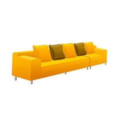A view of a sofa vector