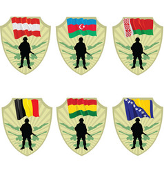 Army in the world vector