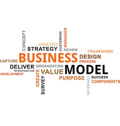 Word cloud business model vector