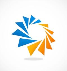 Circular geometry spark 2d logo vector
